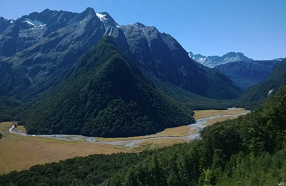 View of the Routeburn Flats